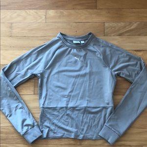 Grey puma athletic top